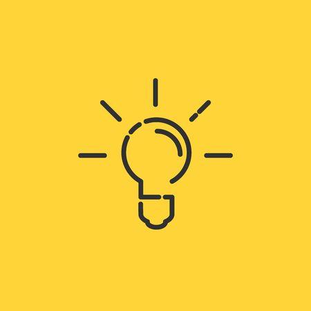 Idea icon, light bulb linear simple trendy icon. 向量圖像