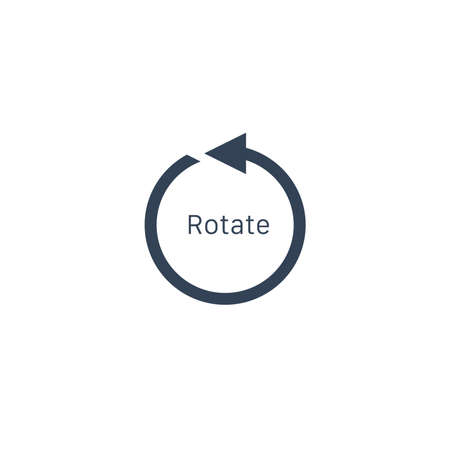 rotation arrow Icon, rotate 360 degrees counter clockwise. Stock vector illustration isolated on white background.