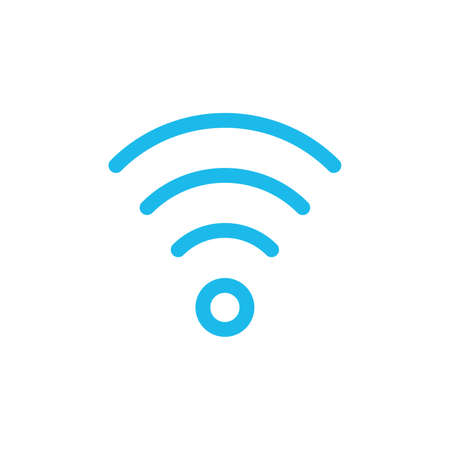 Wi fi signal linear icon. Thin line illustration. Wifi connection contour symbol. Stock vector illustration isolated on white background.