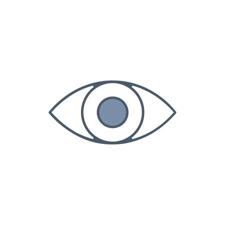 Eye sight icon, eyeball vision sign. eyesight symbol. Stock vector illustration isolated  イラスト・ベクター素材