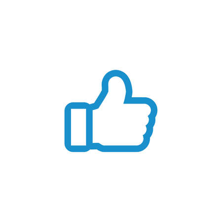 thumb up icon, like button. Stock vector illustration isolated on white background.