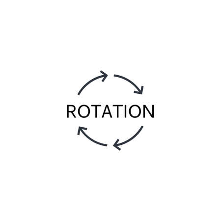 Rotation arrows Icon Vector. Circle motion Simple flat symbol. Perfect Black pictogram illustration on white background.
