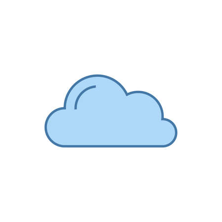 Cloud vector illustration on blue sky. Stock vector illustration isolated on white background.