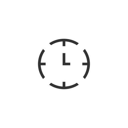 Simple clock watch icon. Stock vector illustration isolated on white background.  イラスト・ベクター素材