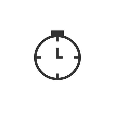 Simple timer clock watch icon. Stock vector illustration isolated on white background.  イラスト・ベクター素材