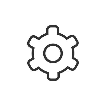 Vector gear icon. Cogwheel, cog wheel, industry. line icon for websites, web design, mobile app, infographics. Stock vector illustration isolated on white background.
