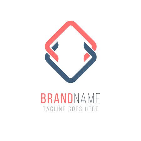 Letter VA rhombus shape  design. Universal elegant vector emblem. Premium business  . Graphic alphabet symbol for corporate identity