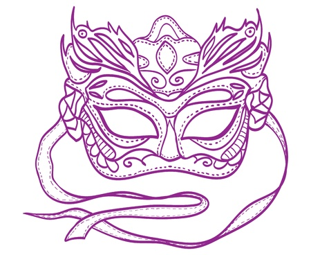 Illustration of carnival mask Vector