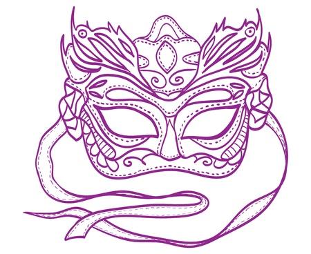 carnevale: Illustration of carnival mask Illustration