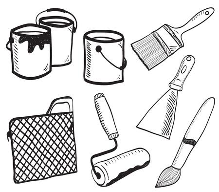 버킷: 회화 액세서리 손으로 그린 그림 - 색상, 브러쉬, 양동이, 롤러