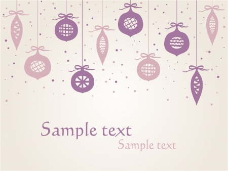 Christmas background - decorative balls abstract background with copy space Stock Vector - 15326098