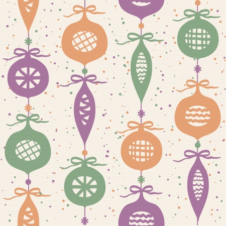 Christmas balls seamless pattern, background with retro colors Stock Vector - 15326117