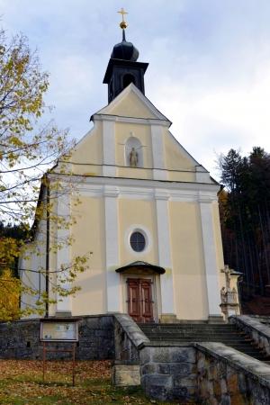 순례 장소 - 체코의 말 레니 스코 (Malenisko)에있는 교회 l