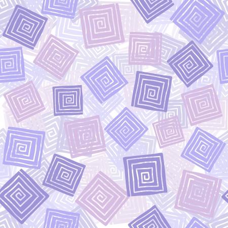 Squares mit Spiral Illustration, nahtlose Muster Hintergrund