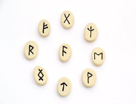futhark: nordic runes - circle shape on white background