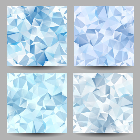 Set of backgrounds with abstract geometrical triangles Vector
