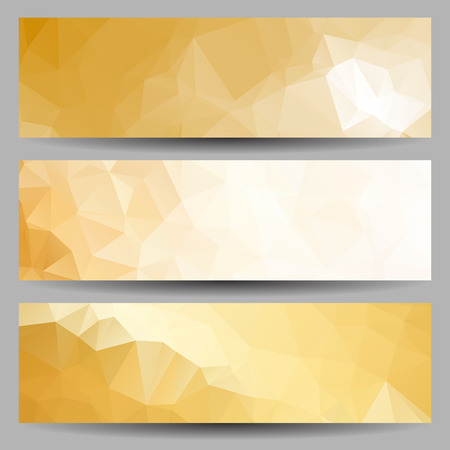 decorative element: Set of banners with abstract geometrical triangles
