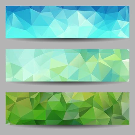 一組の抽象的な幾何学的な三角形の旗  イラスト・ベクター素材