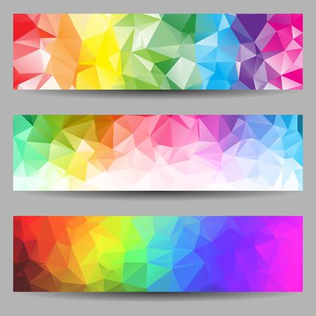 Set van banners met abstracte geometrische driehoeken Stockfoto - 30520655