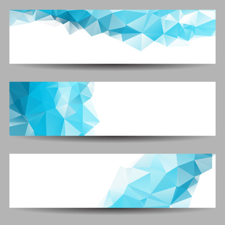 Set van banners met abstracte geometrische driehoeken Stock Illustratie