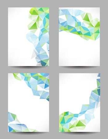 Set of backgrounds with abstract geometrical triangles Illustration