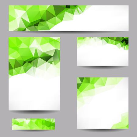 Set van templates met abstracte geometrische driehoeken