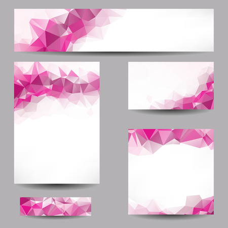 Set of templates with abstract geometrical triangles Vector