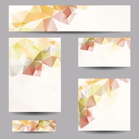 Satz von Vorlagen mit abstrakten geometrischen Dreiecke Standard-Bild - 30639332