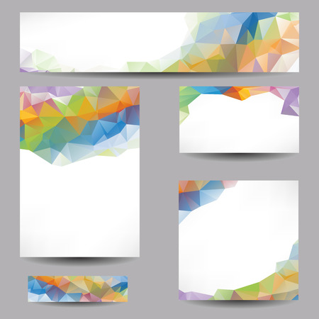 yelllow: Set of templates with abstract geometrical triangles