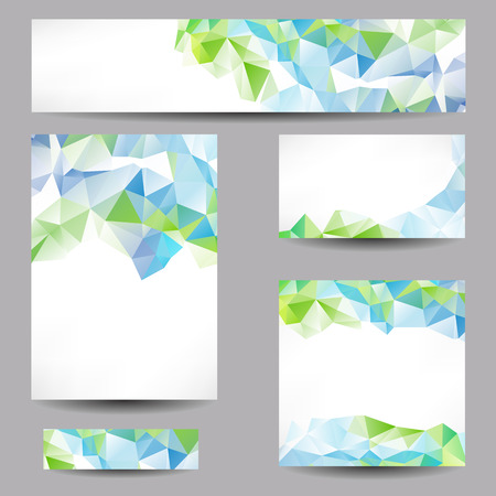 Set of templates with abstract geometrical triangles