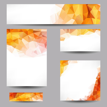 Set of templates with abstract geometrical triangles Reklamní fotografie - 30831418