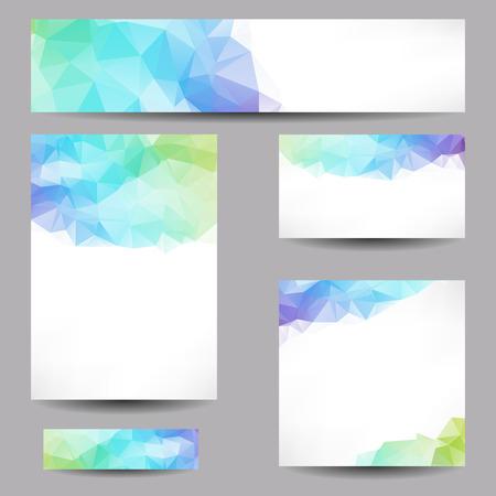 Conjunto de plantillas con triángulos geométricos abstractos
