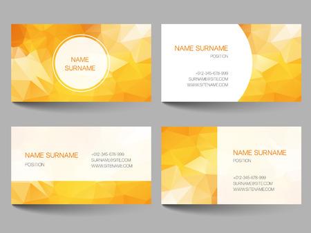 抽象的な幾何学的な三角形のビジネス カードのセット  イラスト・ベクター素材