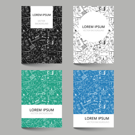 simbolos matematicos: Conjunto de plantillas de documentos con el patrón de la física garabateado