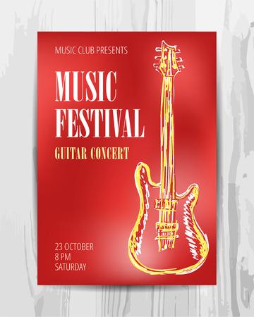 dancing club: Party Flyer. Club music concert poster. DJ lineup design. Vector template.