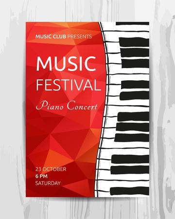 Party Flyer. Club muziek concert poster. DJ lineup design. Vector sjabloon.