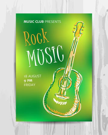 파티 전단지. 클럽 음악 콘서트 포스터입니다. DJ 라인업 디자인. 벡터 템플릿입니다.