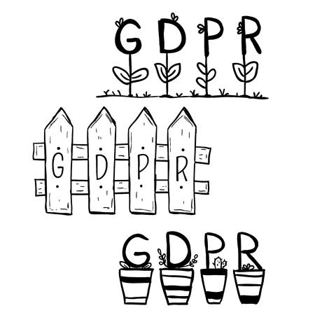 GDPR General Data Protection Regulation Internet Technology Security Doodle