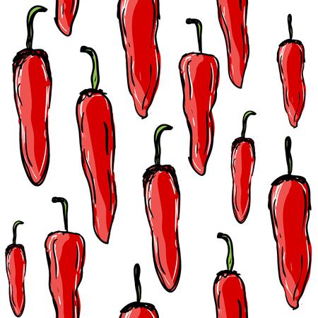 Pimientos picantes rojos, patrones sin fisuras