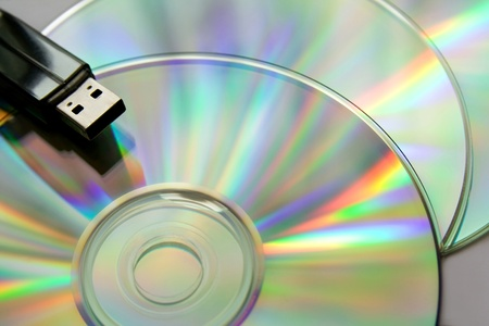 bright cd disks with USB flash
