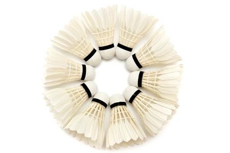 Group of white badminton shuttlecocks for your design Stock Photo