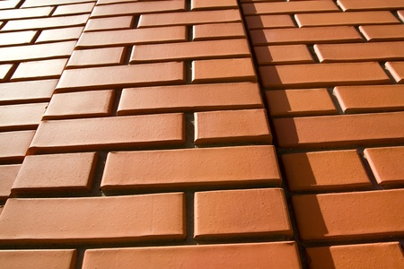 Red brick wall of good quality bricks