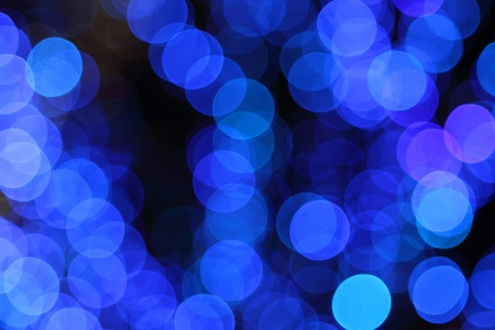 blurry lights: abstract background of defocused blue lights. Photo Stock Photo
