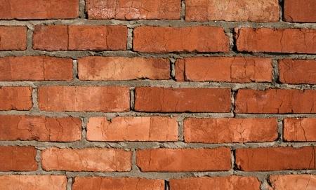 Mur de brique rouge Banque d'images