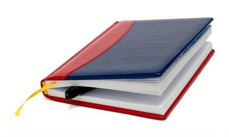 Colorful livre quotidienne avec un stylo