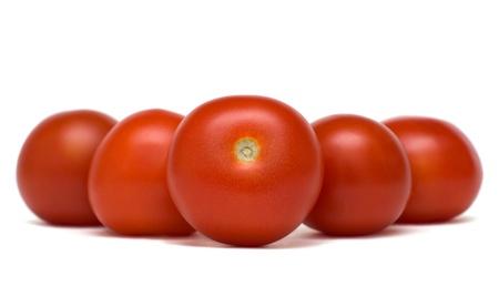 Tomates rouges debout dans une rang�e Banque d'images