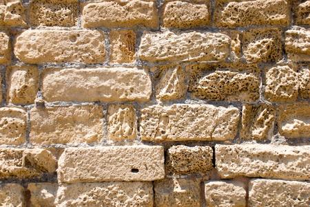 Texture of ancient masonry in Caesarea