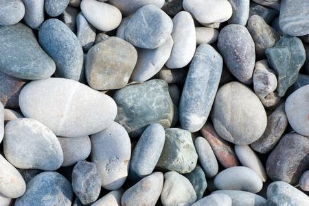 Texture of gray sea pebbles Stock Photo