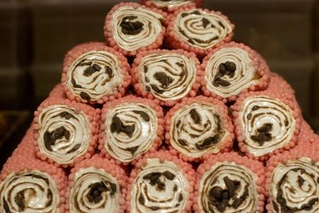 Cl�ture des nombreuses sucreries orientales Banque d'images