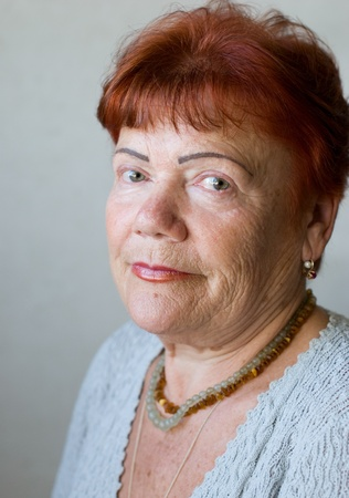 Portrait of seventy year old woman  Stock Photo